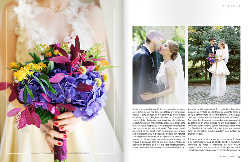 Aparitie in WedMag // BEST OF WEDDINGS  // EDITIA 2015